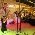 A saxophone entertainer