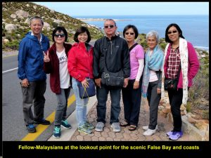 Fellow-Malaysians at lookout point for False Bay and coasts