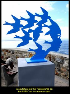 Sculpture of birds at Gearing's Point in Hermanus