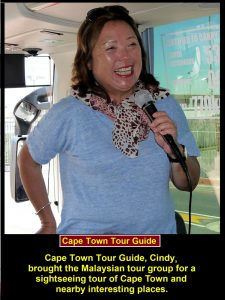 The tour guide of Cape Town is called Cindy.