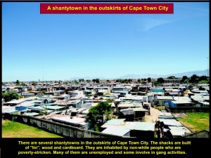 Shantytown where poor people who are mostly black stay