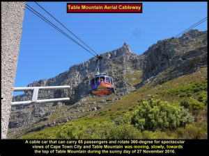 Cable-car that brings tourists to the top of Table Mountain, Cape Town
