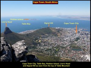 A spectacular view of Lion's Head and Signal Hill, and their surroundings