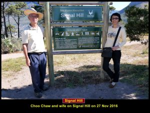 Choo Chaw and wife on Signal Hill