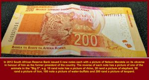 "All 5th. issue of bank notes have pictures of animals in ""Big 5"""