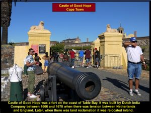 Castle of Good Hope, a fortress built by Dutch East India Company between 1666 and 1678 to prevent attack from England