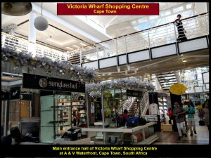 Main entrance hall of Victoria Wharf Shopping Centre, Cape Town