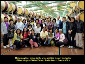 Malaysian tour group visiting the winery