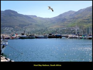 Pituresque Hout Bay as seen from boat, Calypso