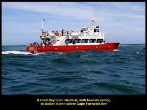 Nauticat, a boat carrying tourists to Duiker Island