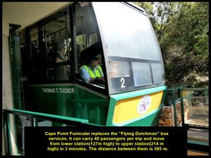 """Cape Point Funicular replaced the """"Flying Dutchman"""" bus services in 1919."""