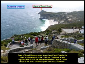 Cape of Good Hope as seen from Cape Point Peak