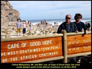 Mr. & Mrs. Lee at Cape of Good Hope