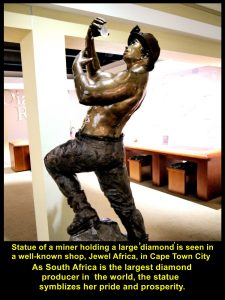 Statue of Diamond miner