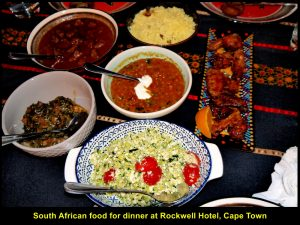 South African food for dinner