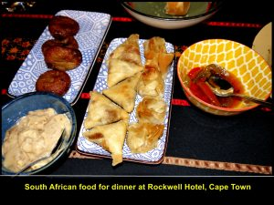 More South African food for dinner