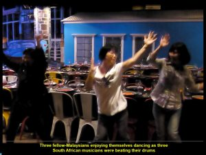 Malaysian dancing, happily