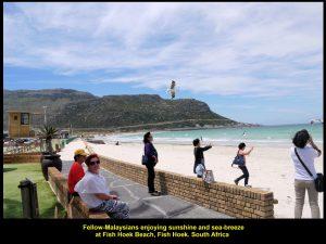 Sunshine and sea-breeze at Fish Hoek Beach