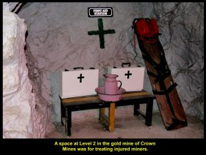 A space in the mine for treating injured miners