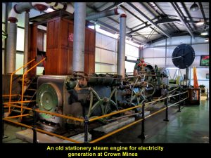 Old electric generator producing electricity for operating the mine