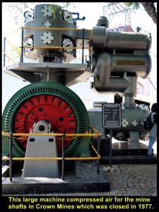 This machine pumped air into the underground mine