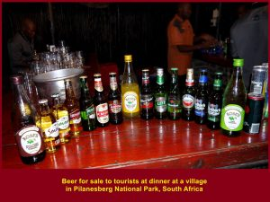 Beer for sale to diners