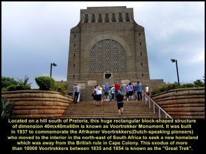 Voortrekker Monument in memory of the Voortrekker involved in the Great Trek(1835-1854)