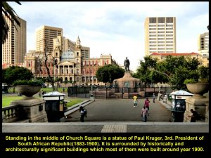 Statue of Paul Kruger at the centre of Church Square