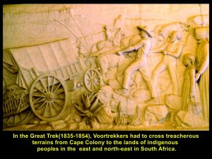 Voortrekkers encountered treacherous terrains in the Great Trek(1835-1854)