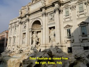 Trevi Fountain viewed from right