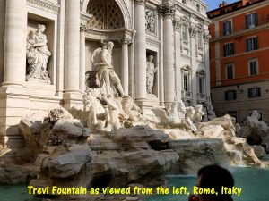 Trevi Fountain seen from the left