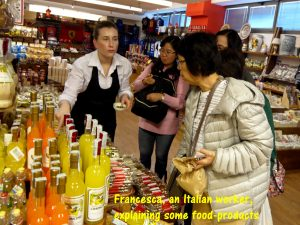 Francesca, friendly shop-assistant