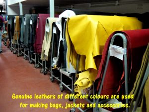 Genuine leathers for making bags, jackets and accessories
