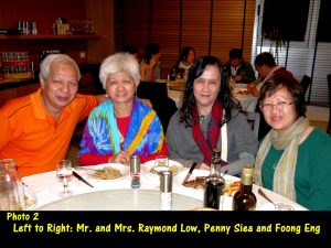 Mr, and Mrs. Raymond Low, Penny and Fong Eng