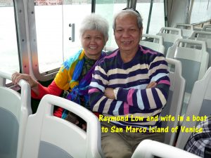 Raymond Low and wife