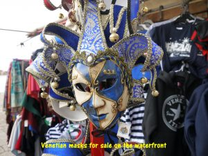 Venetian masks worn during the Carnival of Venice