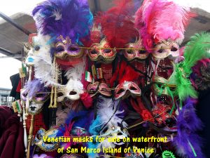 Venetian eye-masks worn during the Carnival of Venice