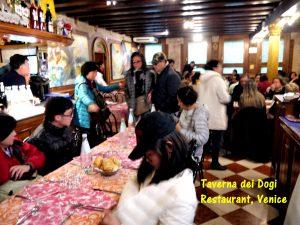 Interior of Taverna dei Dogi Restaurant, Venice