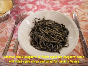 Black Spaghetti or Squid Ink Spaghetti