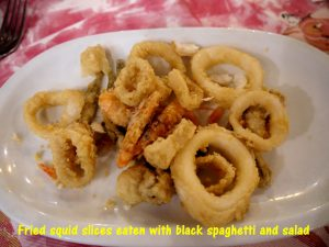 Tasty Fried Squid Slices