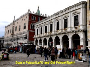 Doge's Palace(Left) and Old Prison(Right)