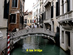A low bridge in Venice