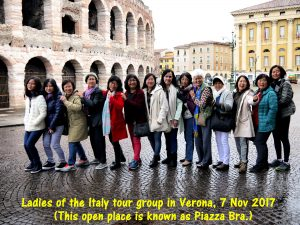 Ladies of the Malaysian Tour Group in Verona