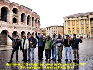 Gentlemen of the Malaysian Tour Group in Verona, Italy