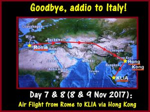 Addio, goodbye to Italy!
