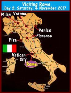 Visiting Rome on Day 3: Saturday, 4 November 2017