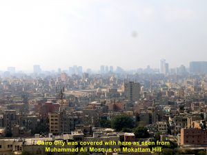 Cairo City shrouded in haze