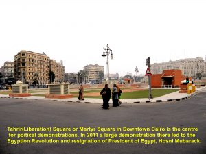 Tahrir Square, a famous place for political demonstrations