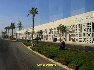 Luxor Airport is 504 km south of Cairo