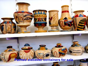 Painted alabaster containers for sale